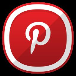 White pinterest 5 icon  Free white social icons