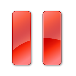 Pause Normal Red icon
