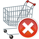 shopping cart remove icon