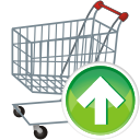 shopping cart up icon