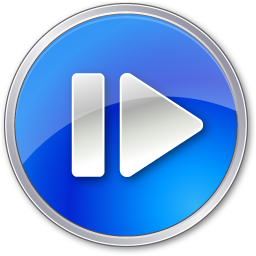 Step Forward Normal Blue icon
